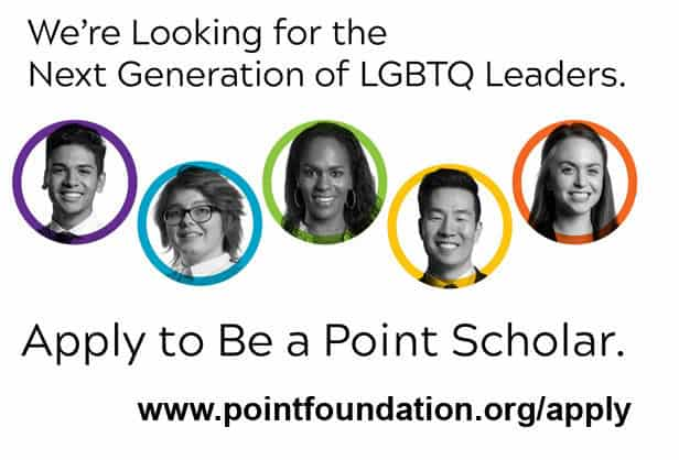 Point-Foundation-2019-LGBTQ-Student-Scholarship-Application-OutBuro-Business-News-Gay-Professional-Networking-GLBT-LGBT-Gay-Lesbian-Bisexual-Transgender-Queer